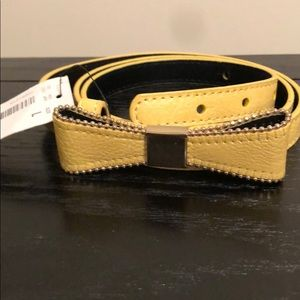 Yellow belt with bow by The Limited.